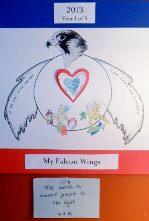 Janet_2013_My_Falcon_Wings_mandala_with_purpose_