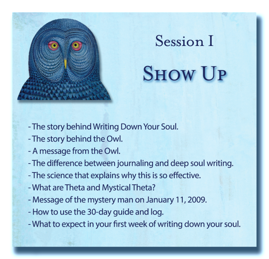Writing Down Your Soul Session 1