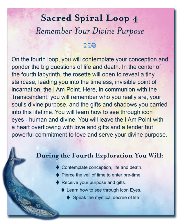 Soul Purpose Session 4 - A unique deep soul exploration walking a sacred spiral path back in time to a place where you remember the unique soul purpose you carried into this life.