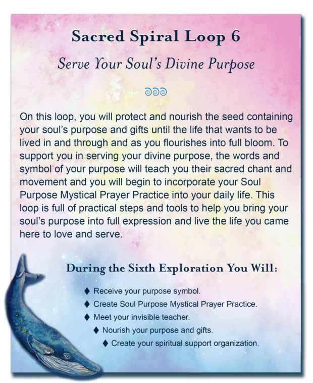 Soul Purpose Session 6 - A unique deep soul exploration walking a sacred spiral path back in time to a place where you remember the unique soul purpose you carried into this life.